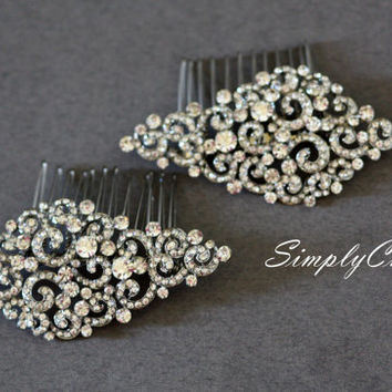 Bridal Comb- Hair Comb, Swarovski , Hair Flower, Brooch, Wedding Jewelry, Wedding Hair Comb, Bridal Comb, Tiara, Crown, Swarovski