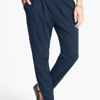 Lily White Pleat Knit Slouchy Pants (Juniors) (Online Only) | Nordstrom