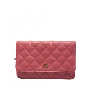 Chanel Pink Caviar Quilted Leather WOC Shoulder Bag