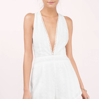 Levels To Your Love Plunging Romper
