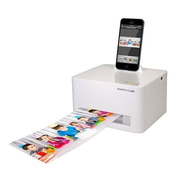 VuPoint Solutions Photo Cube Photo Printer & Charger IP-P28-VP (White)