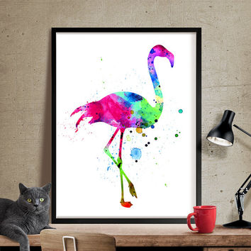 Flamingo Art, Watercolor Painting, Watercolor Art, Flamingo Print, Flamingo Wall Art, Art Print, Home Decor, Poster, Print, Wall Prints(184)