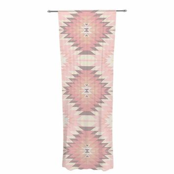 "Amanda Lane ""Soft Southwestern"" Pink Coral Digital Decorative Sheer Curtain"
