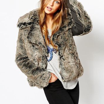 Superdry Snow Queen Faux Fur Coat