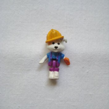 Vintage 1994 Polly Pocket Replacement Fireman Dog Doll Figure Toy from Dog House Animal Wonderland Collection Barclay Ruff Darrin Dog USED