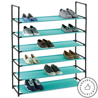 Studio 3B™ 6-Tier Fabric Shoe Rack in Aqua