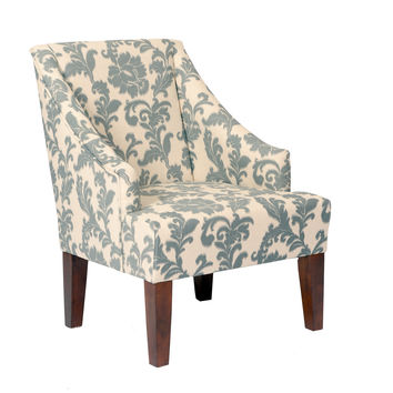 Ikat Fabric Accent Chair