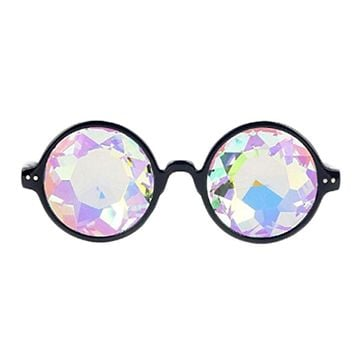 Round Crystal Kaleidoscope Glasses