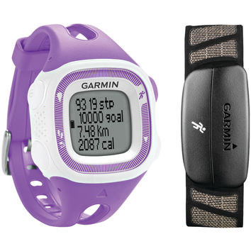 GARMIN 010-01241-62 Forerunner(R) 15 Bundle (Small, Purple/White)