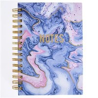 GRAPHIQUE DE FRANCE BLUSH AND BLUE MARBLE HARD BOUND JOURNAL