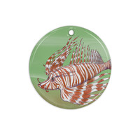 "Catherine Holcombe ""Fish Manchu"" Ceramic Circle Ornament"