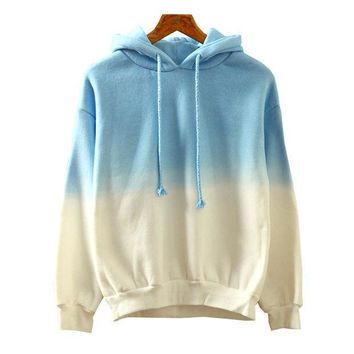 Women's Fashion Korean Casual Gradient Hats Hoodies [4919309828]