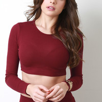 Thermal Knit Crop Top