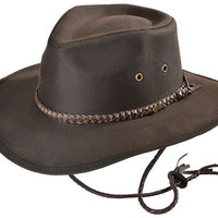 Outback Trading Co Men's Co. Grizzly Upf50 Sun Protection Oilskin Hat Brown Small