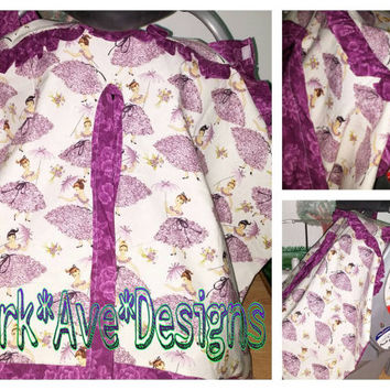 Southern belles in purple Baby Girl  Baby Carseat Canopy Cover..... Coupon code (Domestic USA only)  FREESHIPPING