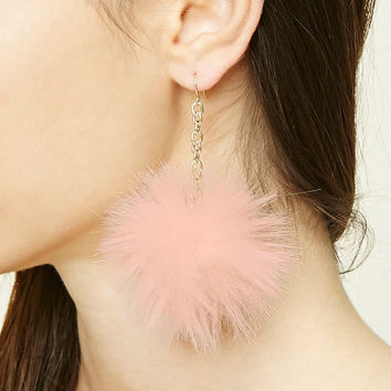 Pom-Pom Drop Earrings