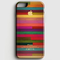 Colorful Wood Pattern iPhone 7 Case