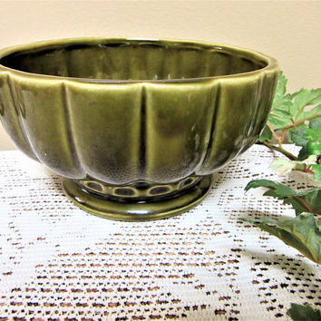Planter McCoy Pottery Floraline Mid Century Collectible Gardening Indoor Ceramic