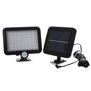 New Waterproof 56 LEDS Outdoor LED Solar Light Human Body Induction Wall Lawn Solar Lamp Led Solar Garden Light Free Shipping