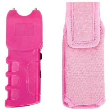 Pink Stun Gun Personal Powerful Security Protection for Women/300,000 V/flashlight Requires 9v Alkaline Battery Not Included