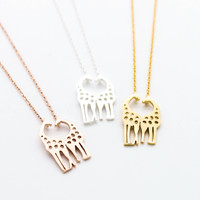 Love giraffe necklace