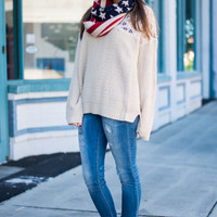 Winter Lace Sweater, Cream