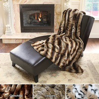 Oversize Safari Faux Fur Patterned Soft Throw Collection | Overstock.com
