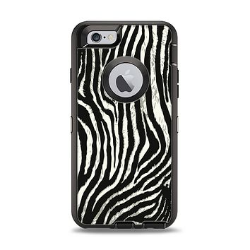 The Real Vector Zebra Print Apple iPhone 6 Otterbox Defender Case Skin Set