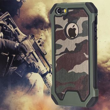 Military Camo Green Case For iPhone 7 Plus 6 5S 6S SE 7Plus