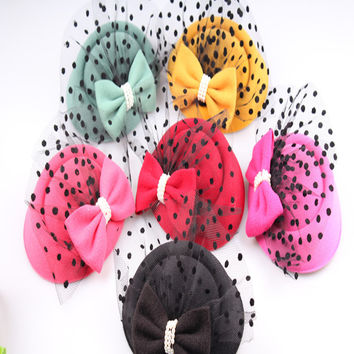 Charming  multiple color  sinemay  fascinator headpiece events hair accessory  wedding headwear suit for all season TMYQ103
