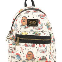 Loungefly Star Wars Classic Tattoo Art Mini Backpack