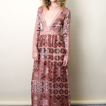 Love and lemons luna maxi dress
