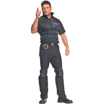 Men's Costume: S.W.A.T. Vest and Knee Pads | 2XL