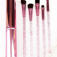 Pink 5 Piece Eye Brush Set