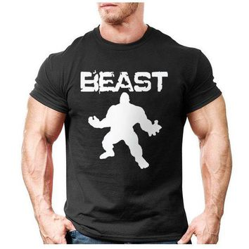 PEAPYV3 New Brand clothing Bodybuilding Fitness Men beast printed t-shirts Golds Gorilla Wear tee shirts Stringer tops