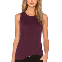 Bella Luxx Muscle Tank in Black Currant