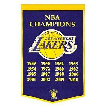 Los Angeles LA Lakers Embroidered Champions Dynasty 24x36 Banner FREE US SHIP