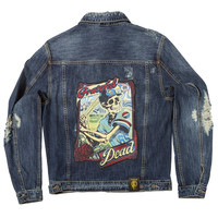 "Posh Denim Distressed Jacket ""Grateful Dead"""