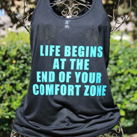 Comfort Zone Razorback Tank Top, Workout Singlet, Workout Tank Top, Custom Tank
