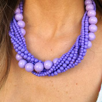 You'll Go Far Necklace: Lavender