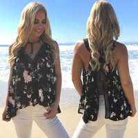 Pathway To Blooms Floral Blouse