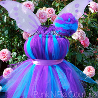 Fabulous Purple & Blue Pixie Fairy Tutu Dress Halloween Costume Birthday Set Infant - 5t