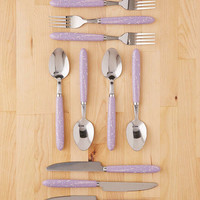 12-Piece Splattered Flatware Set | Urban Outfitters