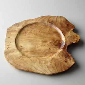 Artisan Crafted Wooden Charger Plate