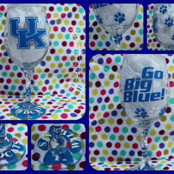 University of Kentucky Wildcats - UK - Big Blue Nation - 20 oz Wine Glass - Sip in style!