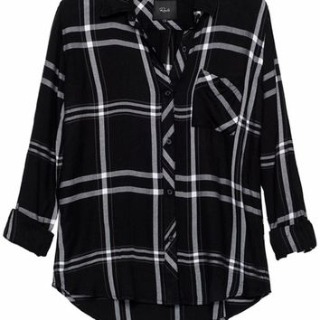 Rails Hunter Plaid Shirt in Jet/White