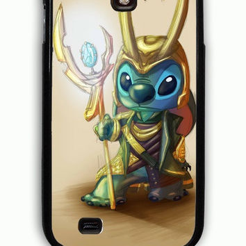 Samsung Galaxy S4 Case - Rubber (TPU) Cover with Loki and stitches Rubber Case Design