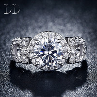 luxury Jewelry white gold filled engagement Rings for women CZ Diamond wedding bague bijoux classic accessories romantic DD101