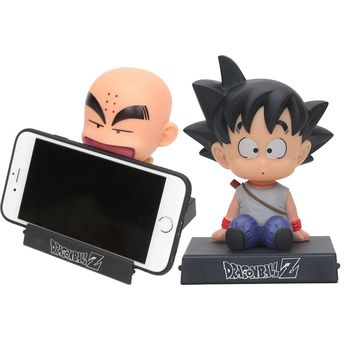 Dragon Ball Z DBZ Son Goku Kuririn Resin Statue Action Figure Toy Collection Model Brinquedos Phone Holder