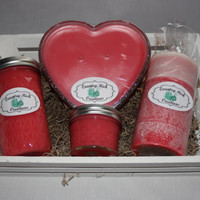 Candle - Gift Basket - Lovespell - Heart Shaped - Container Candles